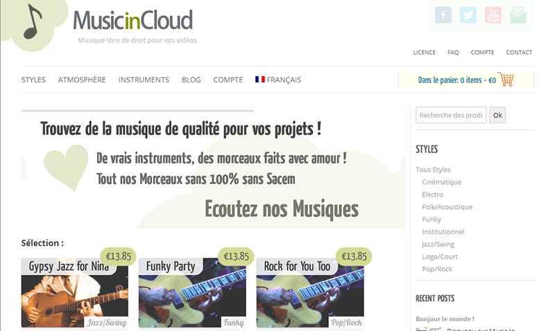 musicincloud musique libre de droit gratuit funk